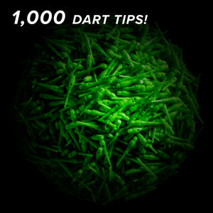 Viper Tufflex Tips III 2BA Green 1000Ct Soft Dart Tips