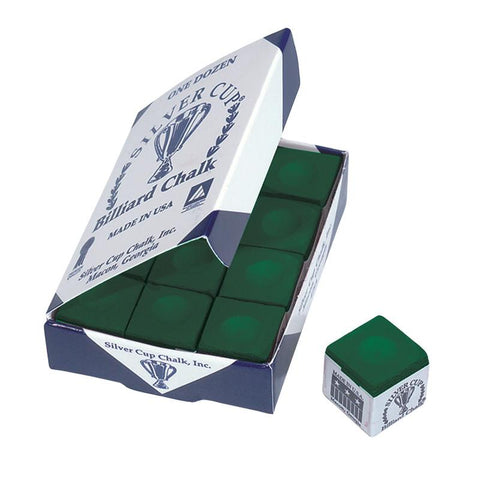 Silver Cup Green Cue Chalk Billiard Accessories Silver Cup
