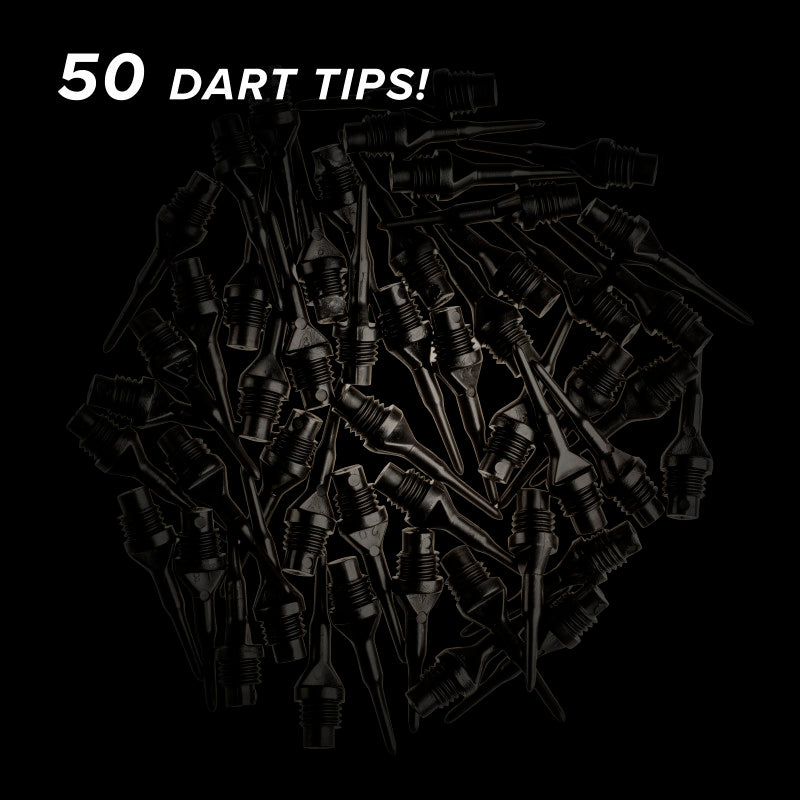 "Viper Tufflex Tips II 1/4"" Black 50Ct Soft Dart Tips"
