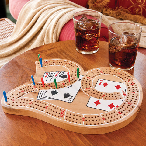 "Image of Mainstreet Classics Wooden ""29"" Cribbage Board Game Set Mainstreet Classics"
