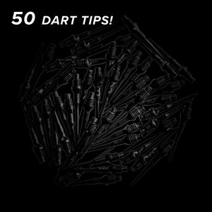 Viper Tufflex Tips II 2BA Black 50Ct Soft Dart Tips
