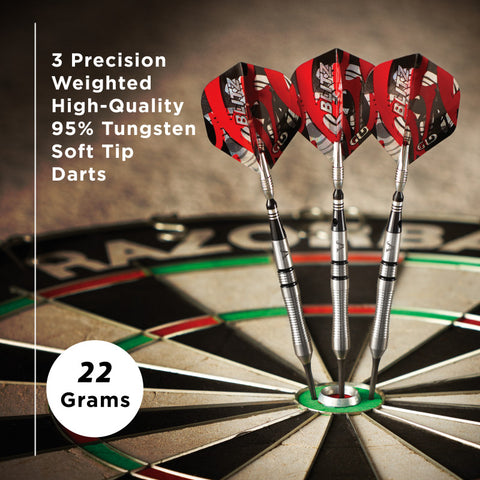 Viper Blitz Darts 95% Tungsten Steel Tip Darts 22 Grams