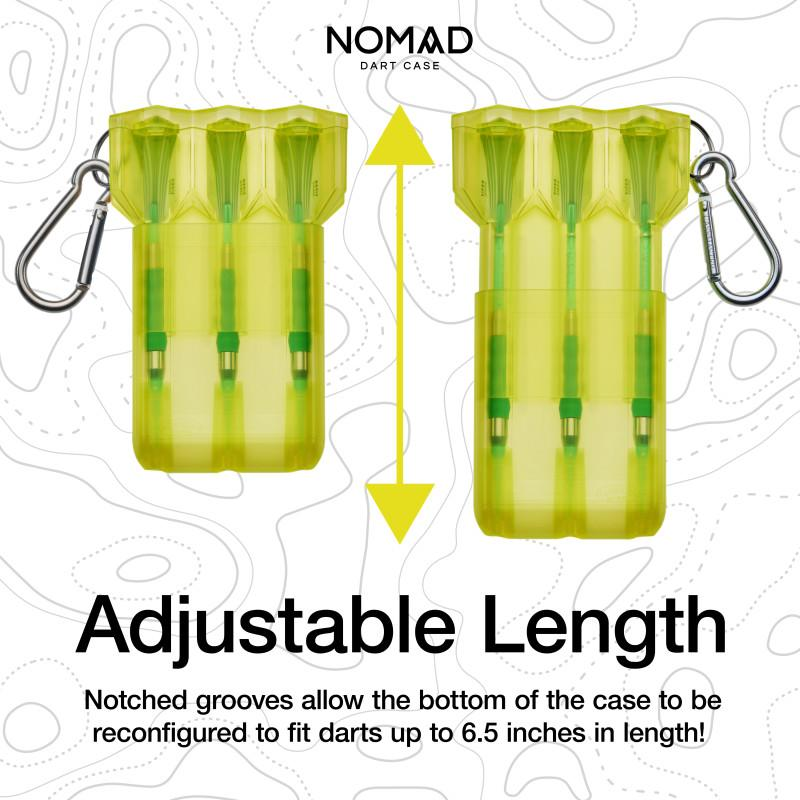 Casemaster Nomad Adjustable Dart Case Neon Yellow Dart Cases Casemaster