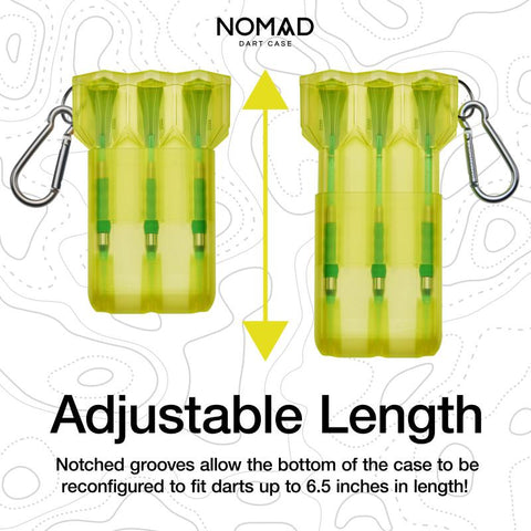 Image of Casemaster Nomad Adjustable Dart Case Neon Yellow Dart Cases Casemaster