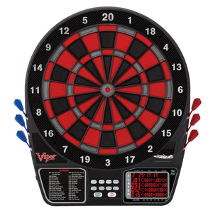 Viper 797 Electronic Dartboard, Warrior Soft Tip Darts & Poly Royal 6ct Slim Flights