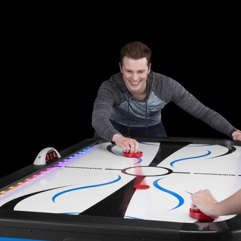 Image of Fat Cat Supernova LED Light-Up Air Hockey Table Table Hockey Table Fat Cat