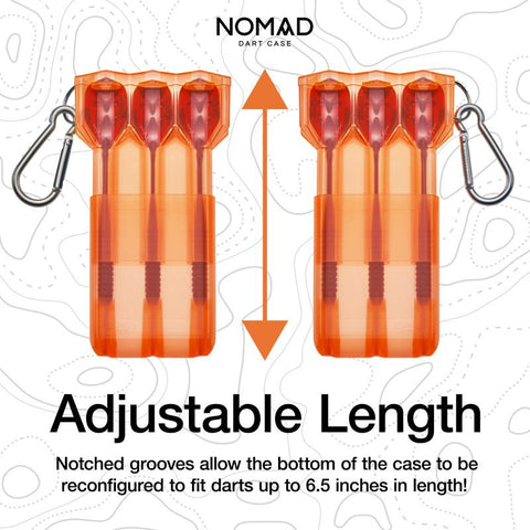 Casemaster Nomad Adjustable Dart Case Neon Orange