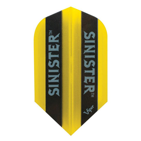V-100 Sinister Flights Slim Translucent Yellow Dart Flights Viper