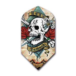 Damned Alchemy Skull and Roses Slim Flights Dart Flights Viper