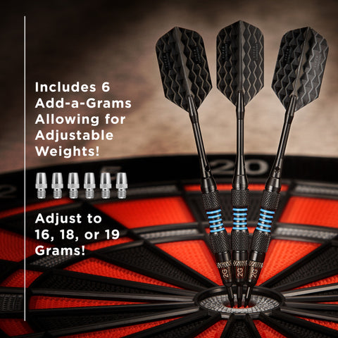Image of Viper Bobcat Darts Adjustable Soft Tip Darts Blue Rings 16-19 Grams Soft-Tip Darts Viper