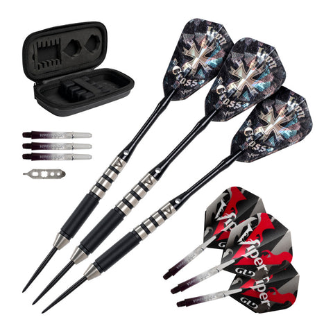Viper Desperado 80% Tungsten Iron Cross Steel Tip Darts 24 Grams Steel-Tip Darts Viper