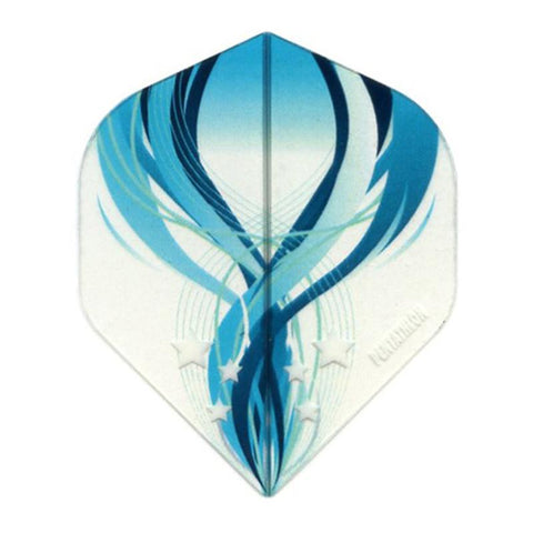 Pentathlon Standard Translucent Design White/Blue Flights Dart Flights Viper