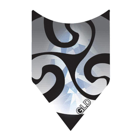 2-D Glitter Flights Shield Black/Silver