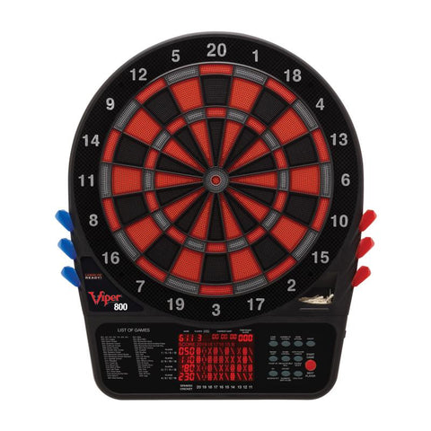 Image of Viper 800 Electronic Dartboard, Metropolitan Mahogany Cabinet, Throw Line Marker & Shadow Buster Dartboard Light Bundle Darts Viper