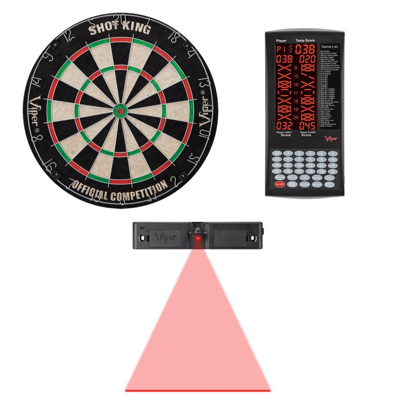 Viper Shot King Bristle Dartboard, ProScore, and Laser Line Darts Viper