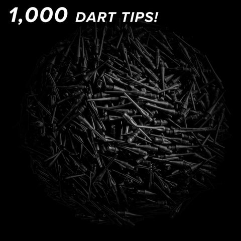Viper Diamond Tips 2BA Black 1000Ct Soft Dart Tips