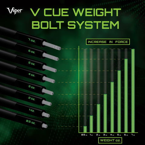 Viper Professional Cue Weight Bolt System 7 oz.