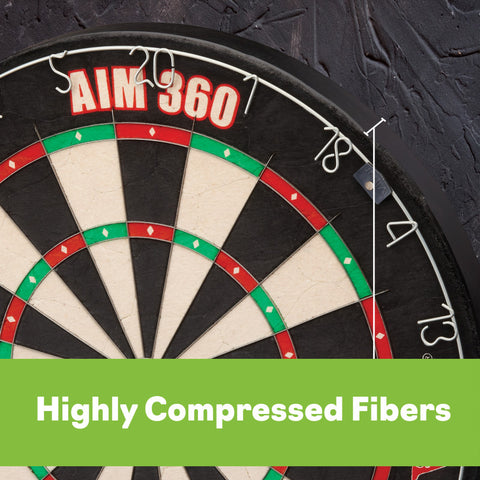 Image of Viper AIM 360 Sisal Dartboard Steel-Tip Dartboard Viper