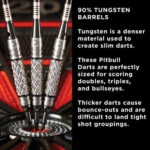 Image of Viper Pitbull Darts Tungsten Soft Tip Darts Diamond Cut and Shark Fin Barrel 18 Grams