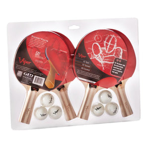 Viper Two Star Tennis Table Four Racket and Six Ball Set