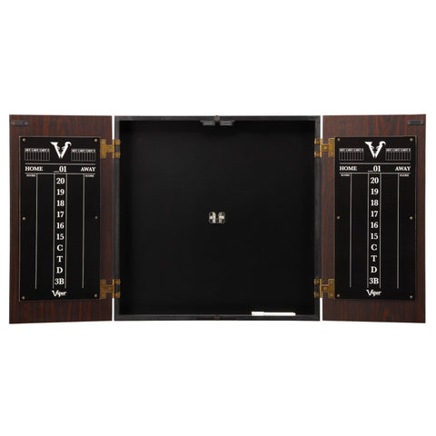 Image of Viper Stadium Dartboard Cabinet with Shot King Sisal Dartboard Dartboard Cabinets Viper