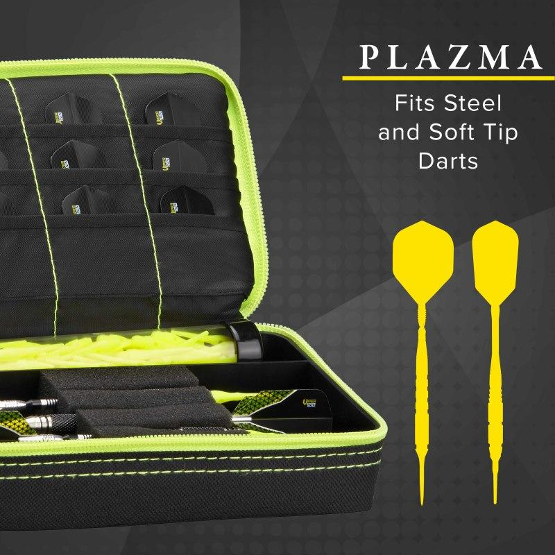 Casemaster Plazma Dart Case Black with Yellow Trim Dart Cases Casemaster
