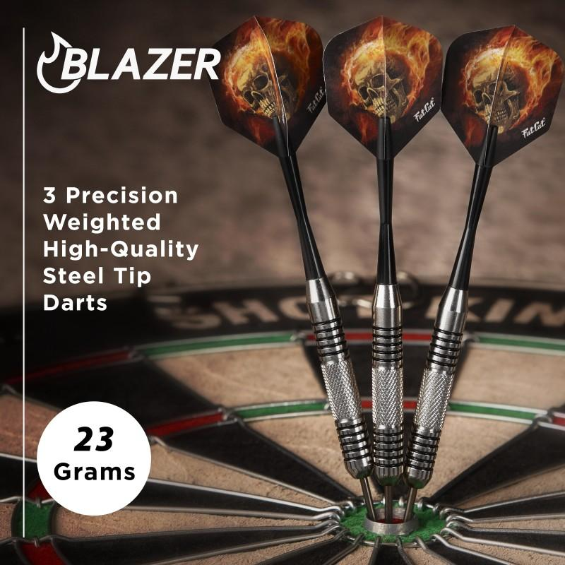 Fat Cat Blazer Steel Tip Darts 23 Grams Steel-Tip Darts Fat Cat