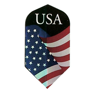 V-75 Poly Royal Hard Flights Slim American Flag Dart Flights Viper