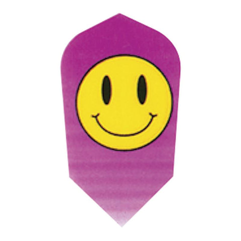 V-75 Poly Royal Hard Flights Slim Smiley Face Dart Flights Viper