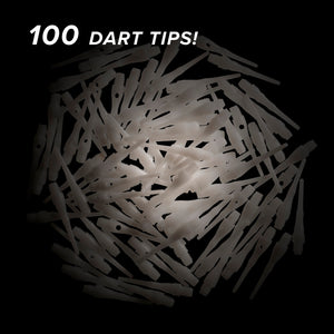 Viper Tufflex Tips III 2BA White 100Ct Soft Dart Tips