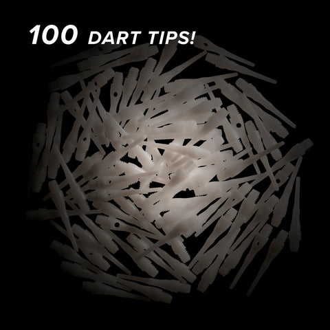 Viper Tufflex Tips III 2BA White 100Ct Soft Dart Tips Dart Tips Darts