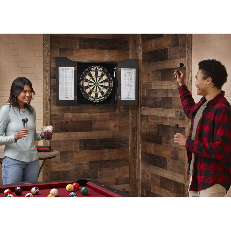 Viper Hudson All-In-One Dart Center Black Dartboard Cabinets Viper