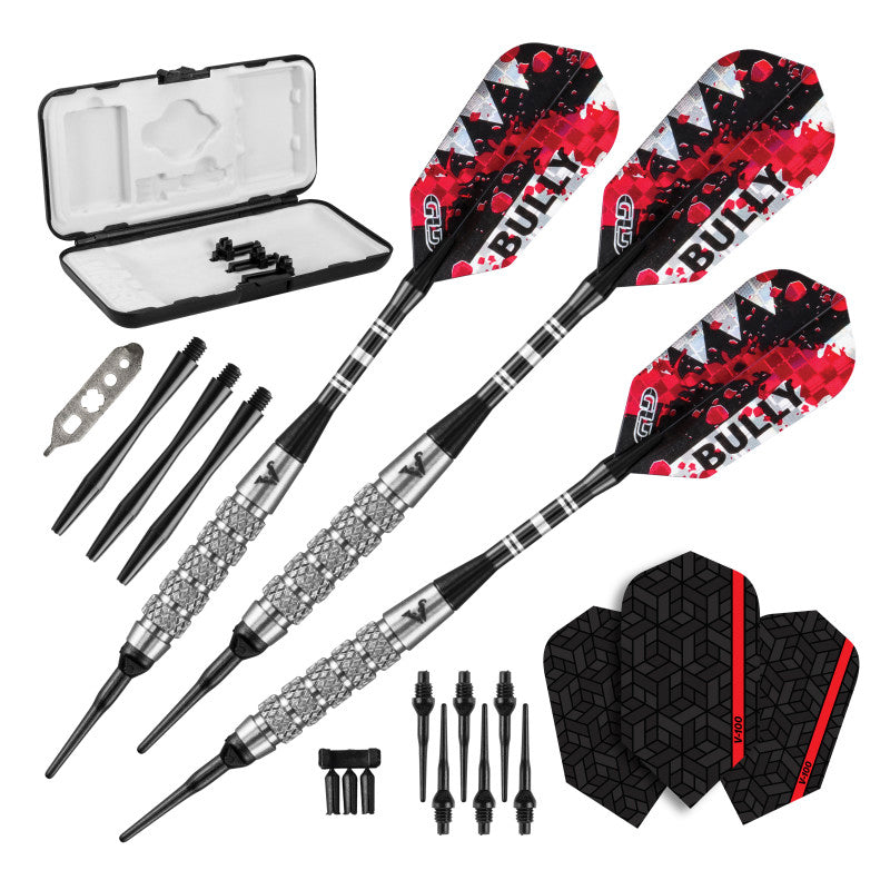 Viper Bully Darts 80% Tungsten Soft Tip Dart Set 5 Knurled Rings 18 Grams Soft-Tip Darts Viper