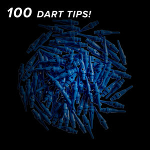 Viper Tufflex Tips SS 2BA Blue 100Ct Soft Dart Tips