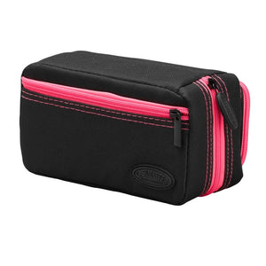 Casemaster Plazma Pro Dart Case Black with Pink Trim and Phone Pocket