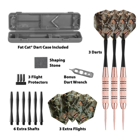 Image of Fat Cat Realtree Hardwoods HD Steel Tip Darts 23 Grams