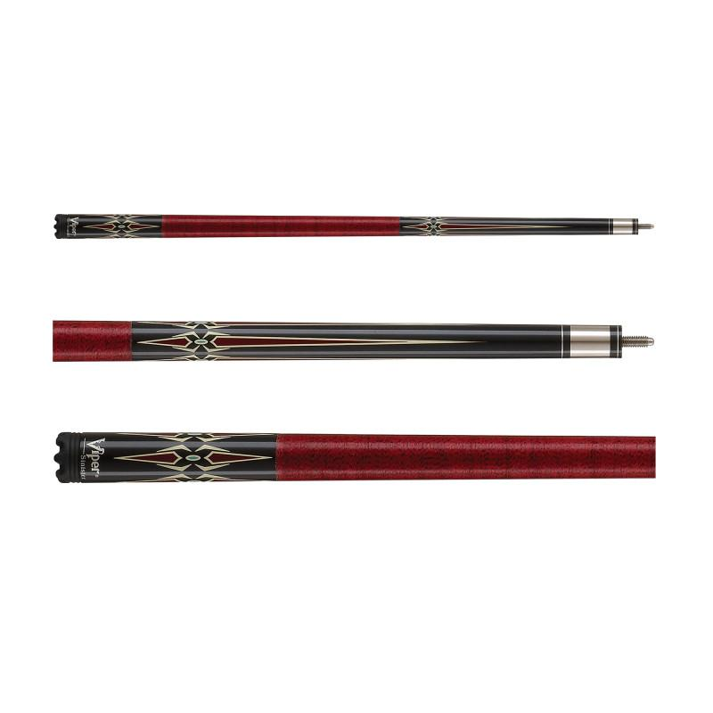 Viper Sinister Series Cue with Red Diamonds Billiard Cue Viper