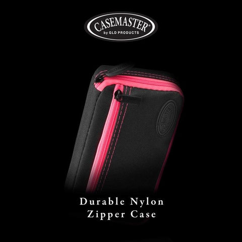 Image of Casemaster Plazma Dart Case Black with Pink Trim Dart Cases Casemaster