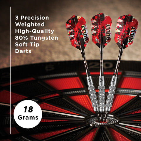 Image of Viper Bully Darts 80% Tungsten Soft Tip Dart Set 5 Knurled Rings 18 Grams Soft-Tip Darts Viper