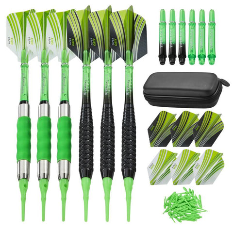 Casemaster Sentry Dart Case and Two Sets of Viper Soft Tip Darts 18 Grams Black/Green Soft-Tip Darts Viper