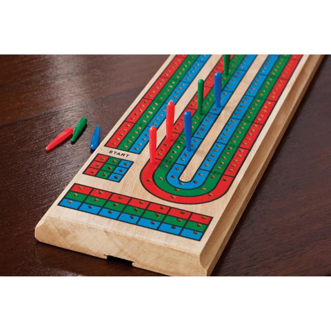 Image of Mainstreet Classics Wooden Barony Cribbage Board Game Set Mainstreet Classics