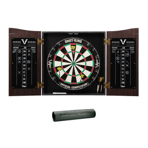 Viper Vault Cabinet with Shot King Sisal Dartboard & Padded Dart Mat