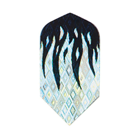 2-D Glitter Flights Slime Black/Silver Flame