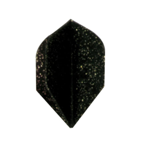 Dyna Star Standard Black Glitter Flights Dart Flights Dyna St