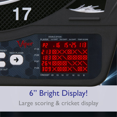 Image of Viper Ion Illuminated Electronic Dartboard Soft-Tip Dartboard Viper