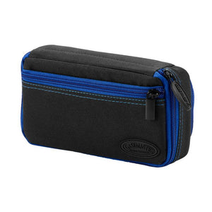 Casemaster Plazma Plus Dart Case Black with Sapphire Zipper and Phone Pocket