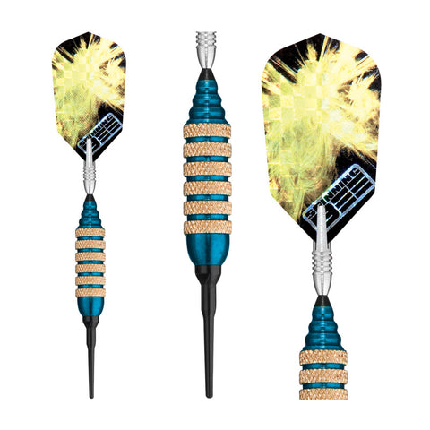 Image of Viper Spinning Bee Blue Soft Tip Darts 16 Grams