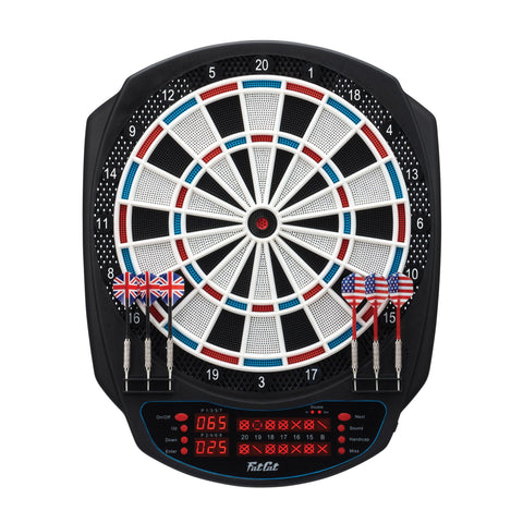 Image of Viper Rigel Electronic Dartboard, Metropolitan Mahogany Cabinet, Laser Throw Line & Shadow Buster Dartboard Light Bundle Darts Viper