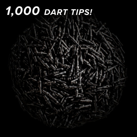 Viper Tufflex Tips SS 2BA Black 1000Ct Soft Dart Tips