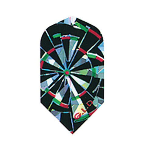 2-D Glitter Flights Slim Expl Dartboard